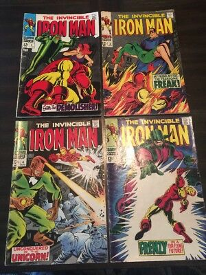 Iron Man #2 - 5 Lot Of 4 Marvel Comics Vg+