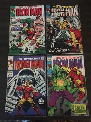 Iron Man #6 - 9 Lot Of 4 Marvel Comics Vg+