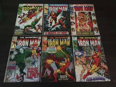 Iron Man #15 16 18 19 22 25 Lot Of 6 Marvel Comics Fn
