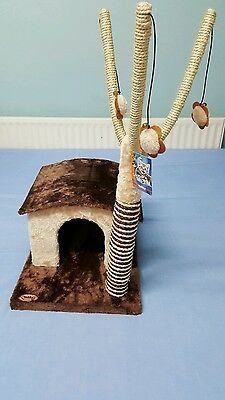 Gypsy Nobby Luxury  Soft Cosy Kitty  Cat  House  With Scratcher  45×35×47 Cm