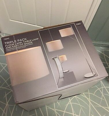 NEXT set of three lights, floor, Table and pendent light shades, BNIB, RRP£60