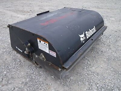 """Bobcat Skid Steer Attachment - 60"""" Pick Up Box Sweeper Broom - Ship $199"""
