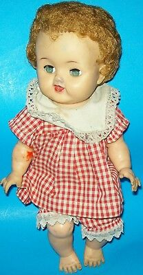"""1950s IDEAL BETSY WETSY VW-2 DOLL ALL VINYL ROOTED HAIR 13 1/2"""" TALL"""
