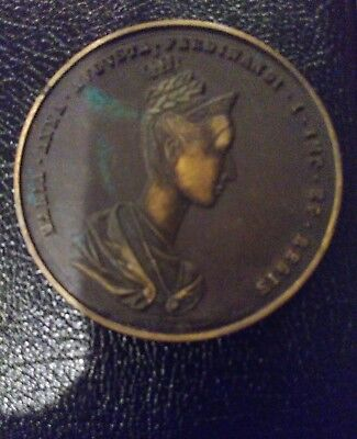 Empress Maria Anna Augusta Ferdinandi I Queen Of Bohemia 1836 Metal Medallion