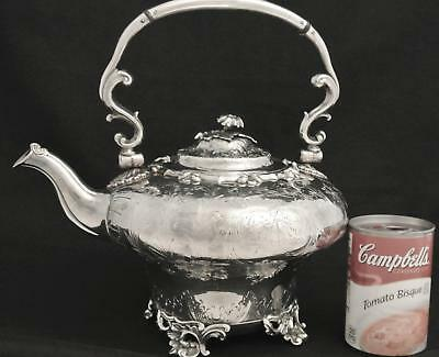 Victorian Silver Plate Art Nouveau Jugendstil Reticulated Tea Pot Coffee Pot