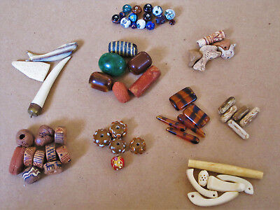 Lot of 60 Loose Beads _ Trade Beads _ Pendants _Collectibles
