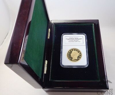 1oz .999 Fine Gold Round-1865 Proposed Motto Double Eagle Proof NGC w/Box & COA