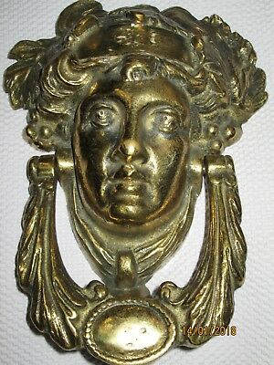 vintage solid brass door knocker made in England