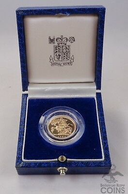 1984 Great Britain Proof Gold 1/2 Sovereign .1177oz AGW