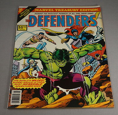 Original 1978 Marvel Treasury Edition No. 16 The Defenders Comic Book