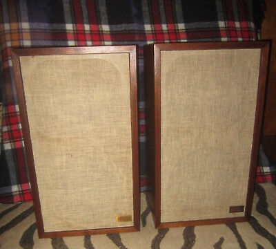 Pair of Vintage Acoustic Research 2ax Speakers - Restored - Walnut