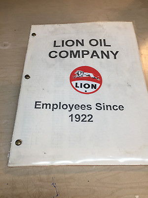 "Lion    Oil    Company    Booklet    Employees    Since    1922    """"31 Pages"""""