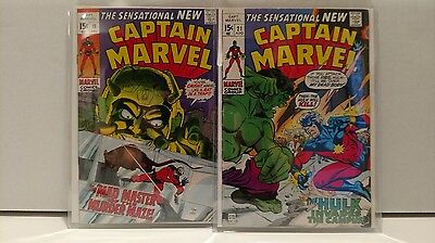 The Sensational New Captain Marvel Lot Of 2 High Grade #19 And 20 All Mile High