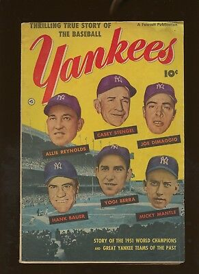 Thrilling True Story of the Baseball Yankees VG 4.0 * 1 Book * Golden Age 1952!