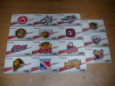 Tim Horton's 2017/18 Set OHL Hockey Gift Cards ( 15 )