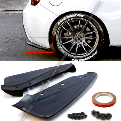 For 12-18 86 BRZ FR-S Unpainted CS Style Rear Bumper Aprons Add On Lip Spoiler