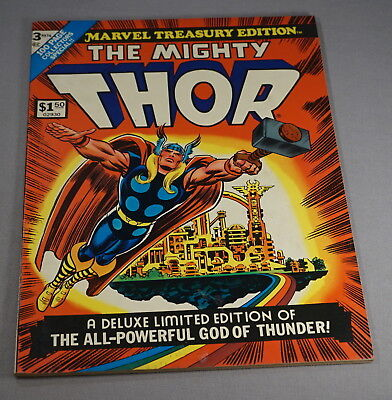 Original 1973 Marvel Treasury Edition No. 3 The Mighty Thor Comic Book