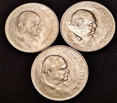 3 1965 Churchill Crowns - Attractive High Grade Coins