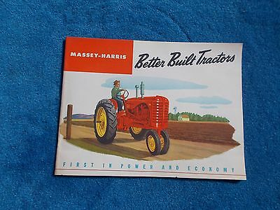 Vintage Original Massey Harris Tractor Model 22 30 44 44-6 55 & Pony Booklet NOS