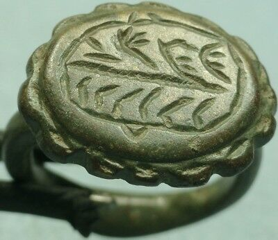 Ancient Bronze Hatched Ring