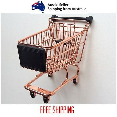 Realistic Mini Toy Shopping Trolley With Folding Child Seat Rolling Wheels