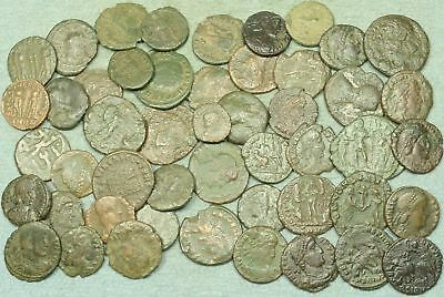 Lot Of 50 Roman Bronze Coins
