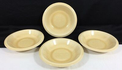 "4 Vtg Franciscan Sea Sulptures PRIMARY SAND 7 3/8"" Rim SOUP Cereal BOWLS NWOT!"