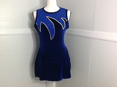 Algy Velour Sequined Dance Costume Cheer Pageant Majorette Royal Blue