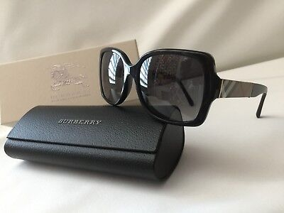 Authentic Burberry Black Polarized Womens Sunglasses Brand New With Tags