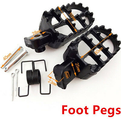 Foot Pegs Footrest Motocross For For Yamaha PW50 PW80 TW200 Honda CR CRF XR 50
