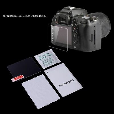Screen Protector Tempered Glass Camera LCD Guard Cover Film For Nikon D3200 New