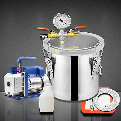 3 Gallon Vacuum Chamber + 3 CFM Single Stage Pump Degassing Silicone Kit