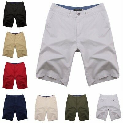 Men's Summer Bermuda Chino Shorts Pants Cargo Overall Trousers Trunks 7 Colors