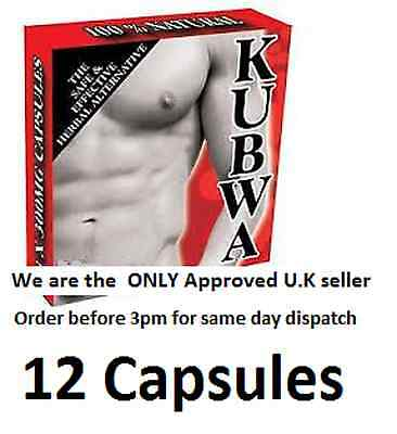 12 x KUBWA STRONG ERECTION PILLS - IMPOTENCY AID - VERY effective - BEST SELLER