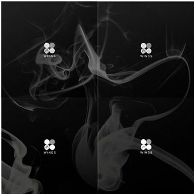 WINGS  BTS 2nd Album Random Ver. CD+96p Photo Book+1p Card boma