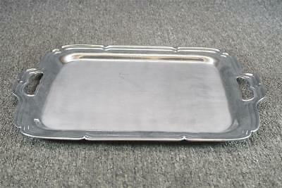 "16"" Long Silver Plated Serving Tray With Handles Farberware"