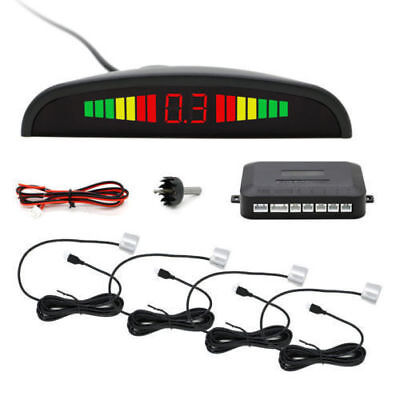 Car New Reverse Parking Sensor Rear 4 Sendors LCD Display Audio Alarm Kit-WH&HZ2