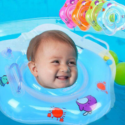 New Swimming Ring Newborn Baby Swimming Neck Float Ring Bath Inflatable Circle