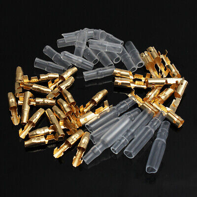 200pcs 3.9mm Male & Female Motorcycle Bullet Connector Socket Classic Terminals