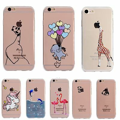 Ultra Thin Pattern Silicone Gel Soft Case Cover For iPhone 5 SE 6 6s 7 8 Plus X