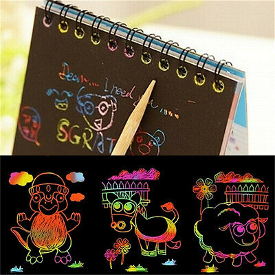 Kids Stationery Set Notebook Stylus Scratch Paper Note Drawing Educational ToyWF