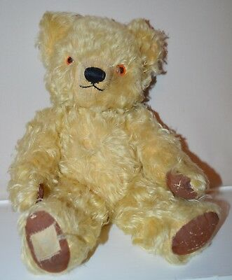 ***  Outstanding 1950S Chad Valley Bear With About 95% Mohair Still On ***