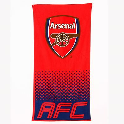 Arsenal Fc Fade Beach & Bath Towel Cotton New Official
