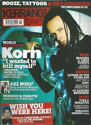KERRANG! #961 JUN 2003: KORN Type O Negative AFI Biffy Clyro THE EXPLOITED