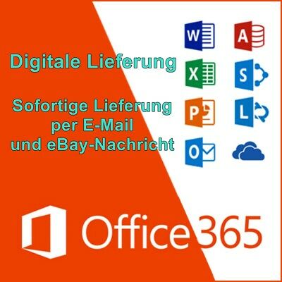 Microsoft Office 365 Pro Plus 2016 ✔ VOLLVERSION ✔ für 5 PC/MAC✔ 5TB Onedrive