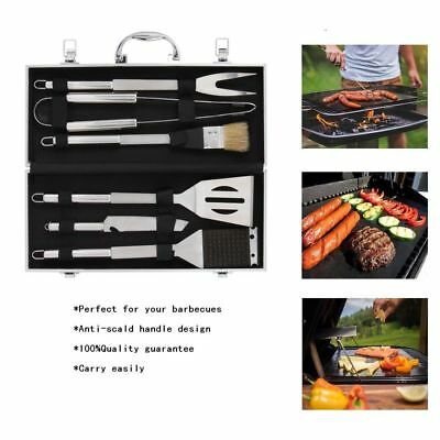 6 PCS BBQ Tools Set Kit Case Stainless Steel Grill Cooking Outdoor Utensils USA