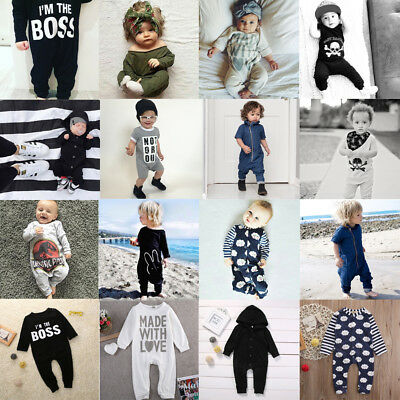 Toddler Newborn Kids Baby Boy Girl Romper Bodysuit Jumpsuit Clothes Outfits LXJ