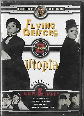 Laurel and Hardy - Flying Deuces, The/ Utopia (DVD, 2004,Double Feature) New!