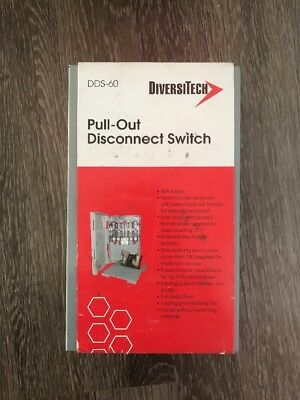 Diversitech Dds-60 60 Amp Pull-Out Disconnect Switch