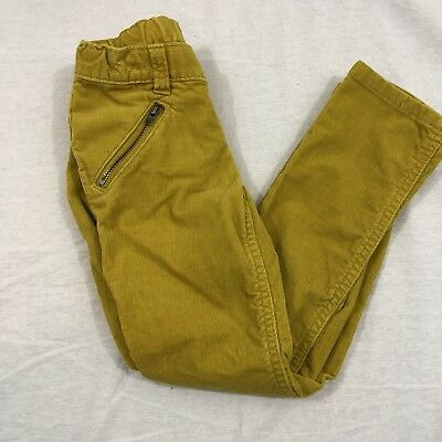 Land's End Kids Girl's Youth Size 6 Corduroy Pants With Zipper Pockets Mustard